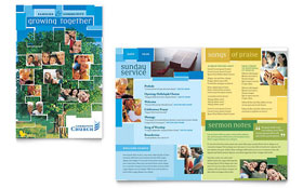 Community Church - Brochure Template Design Sample