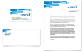 Community Church - Business Card & Letterhead Template Design Sample