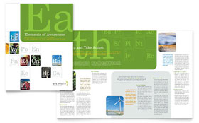 Environmental & Agricultural Non Profit - Brochure Sample Template