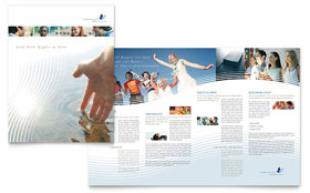 Christian Ministry - Brochure Template Design Sample