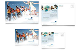 Christian Ministry - Postcard Template Design Sample
