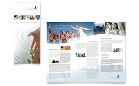 Christian Ministry - InDesign Tri Fold Brochure Template