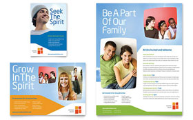 Church Youth Ministry - Flyer & Ad Template Design Sample