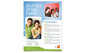 Church Youth Ministry - Flyer Template Design Sample