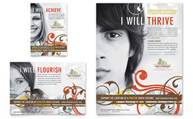 Church Ministry & Youth Group - Flyer & Ad Template Design Sample