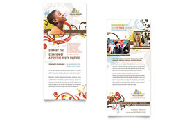 Church Youth Group - Rack Card Sample Template