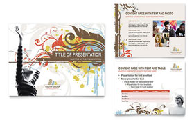 Church Ministry & Youth Group - PowerPoint Presentation Template Design Sample
