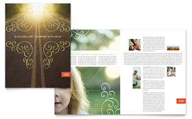 Christian Church - Brochure Template Design Sample