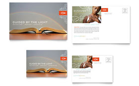 Christian Church Religious - Postcard Template