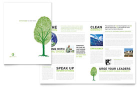 Environmental Non Profit - Brochure Template Design Sample