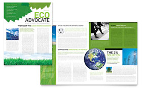 Environmental Non Profit - Newsletter Sample Template