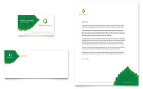 Environmental Non Profit - Business Card & Letterhead Template Design Sample