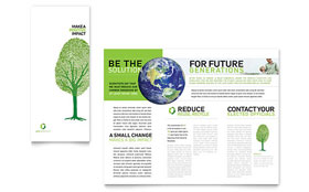 Environmental Non Profit - Print Design Tri Fold Brochure Template