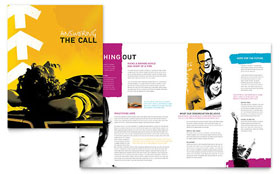 Church Outreach Ministries - Brochure Template Design Sample