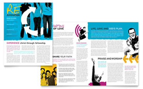 Church Outreach Ministries - Newsletter Template