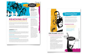 Church Outreach Ministries - Datasheet Template Design Sample