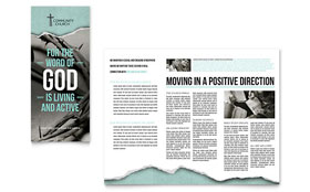 Bible Church - Tri Fold Brochure Template Design Sample