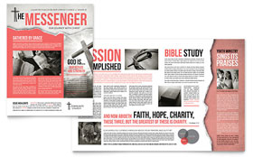 Bible Church - Newsletter Template Design Sample
