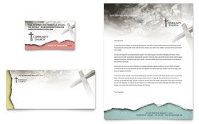 Bible Church - Business Card Template
