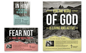Bible Church - Flyer & Ad Template Design Sample