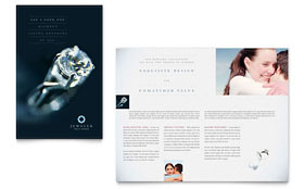 Jeweler & Jewelry Store - Apple iWork Pages Brochure Template