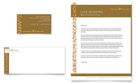 Furniture Store - Business Card & Letterhead Template Design Sample