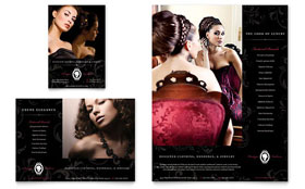 Formal Fashions & Jewelry Boutique - Flyer & Ad Template Design Sample