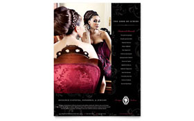 Formal Fashions & Jewelry Boutique - Flyer Template Design Sample