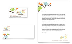 Flower Shop - Letterhead Sample Template