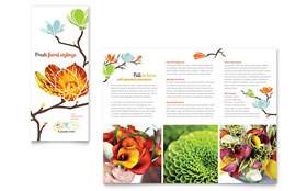 Flower Shop - Tri Fold Brochure Template Design Sample