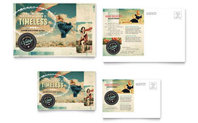 Vintage Clothing - Postcard Template Design Sample
