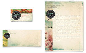 Vintage Clothing - Business Card & Letterhead Template Design Sample