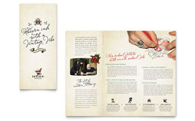 Body Art & Tattoo Artist - Graphic Design Brochure Template