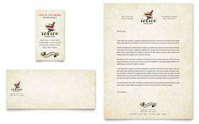 Body Art & Tattoo Artist - Business Card & Letterhead Template Design Sample