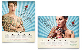 Body Art & Tattoo Artist - Poster Sample Template