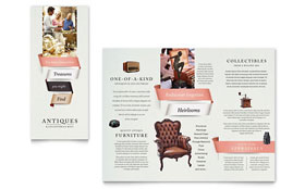 Antique Mall - Tri Fold Brochure Sample Template