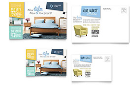 Home Furnishings - Postcard Template