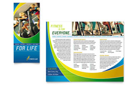 Sports & Health Club - Microsoft Word Brochure Template