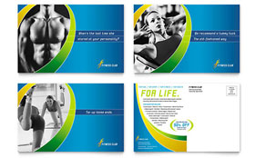 Sports & Health Club - Postcard Template