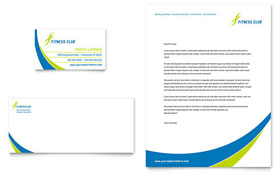 Sports & Health Club - Business Card & Letterhead Template