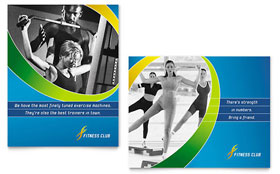 Sports & Health Club - Poster Sample Template