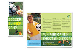 Soccer Sports Camp - Brochure Template Design Sample