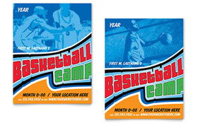 Basketball Sports Camp - Poster Template Design Sample