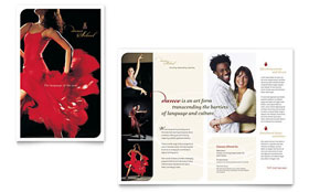 Dance School - Pamphlet Template