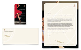 Dance School - Business Card & Letterhead Template