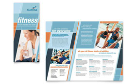 Health & Fitness Gym - Pamphlet Sample Template