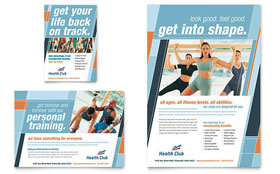 Health & Fitness Gym - Leaflet Template