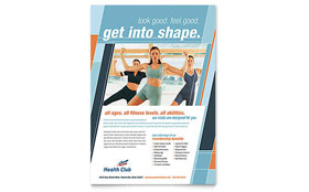 Health & Fitness Gym - Flyer Template Design Sample