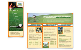 Golf Instructor & Course - Adobe InDesign Brochure Template