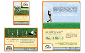 Golf Instructor & Course - Print Ad Template
